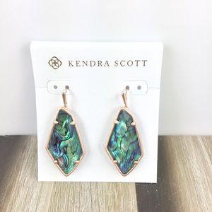 Kendra Scott Emmie abalone rose gold earrings